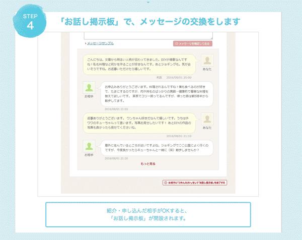 オーネット体験談ログイン情報画面から男性と女性に申し込むと掲示板でメッセージを送り合うことができる