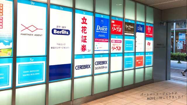 新宿駅から徒歩5分のパートナーエージェント新宿店